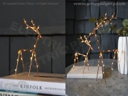 Metal LED Deer Ornament